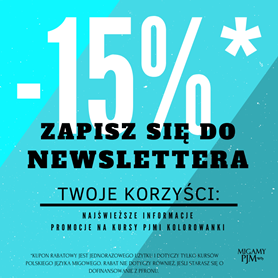 Zapisz się do newslettera!